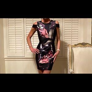 Ted  Baker floral print black dress